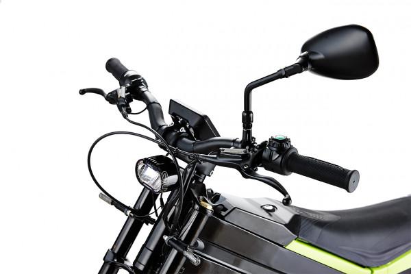 Lenker und Frontansicht des ELMOTO LOOP Gear, ein E-Roller im Angebot des Fahrzeughaus Müller