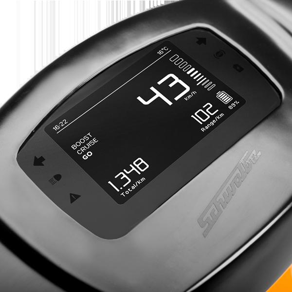 Tacho/Display einer E-Schwalbe, ein E-Roller im Angebot des Fahrzeughaus Müller, Ihr E-Mobilitätspartner in Südthüringen